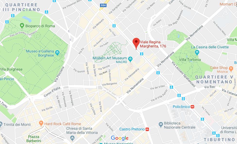 Mappa nutrizionista a Roma Viale Regina Margherita