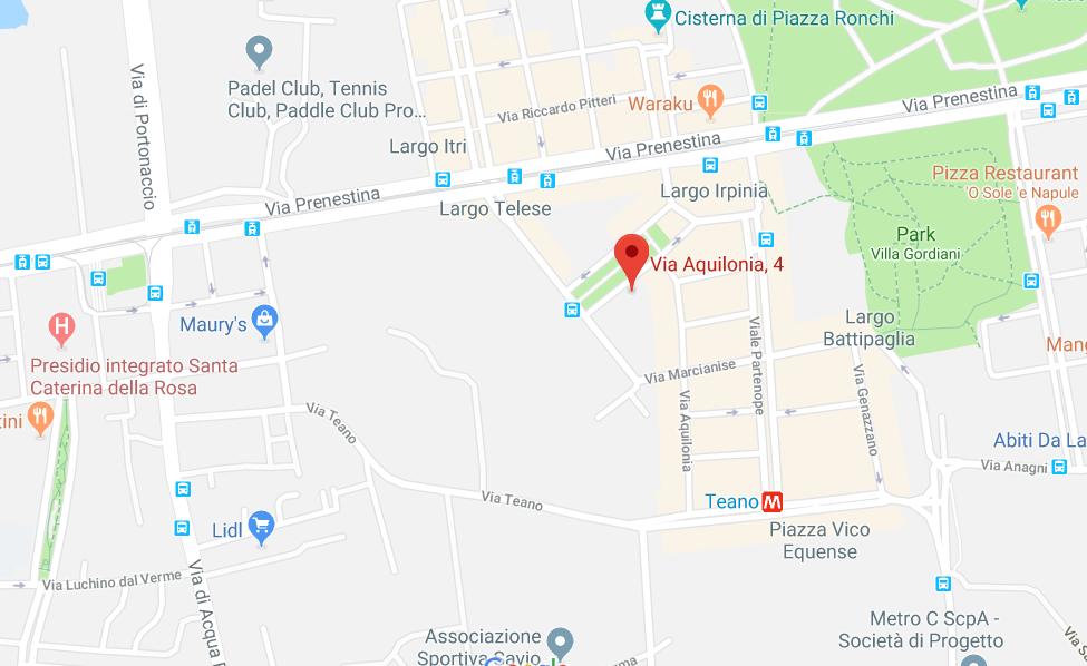 Mappa nutrizionista a Roma via Aquilonia 4